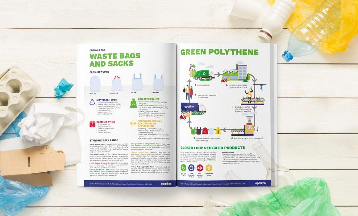 Opalion sustainable brochure spread