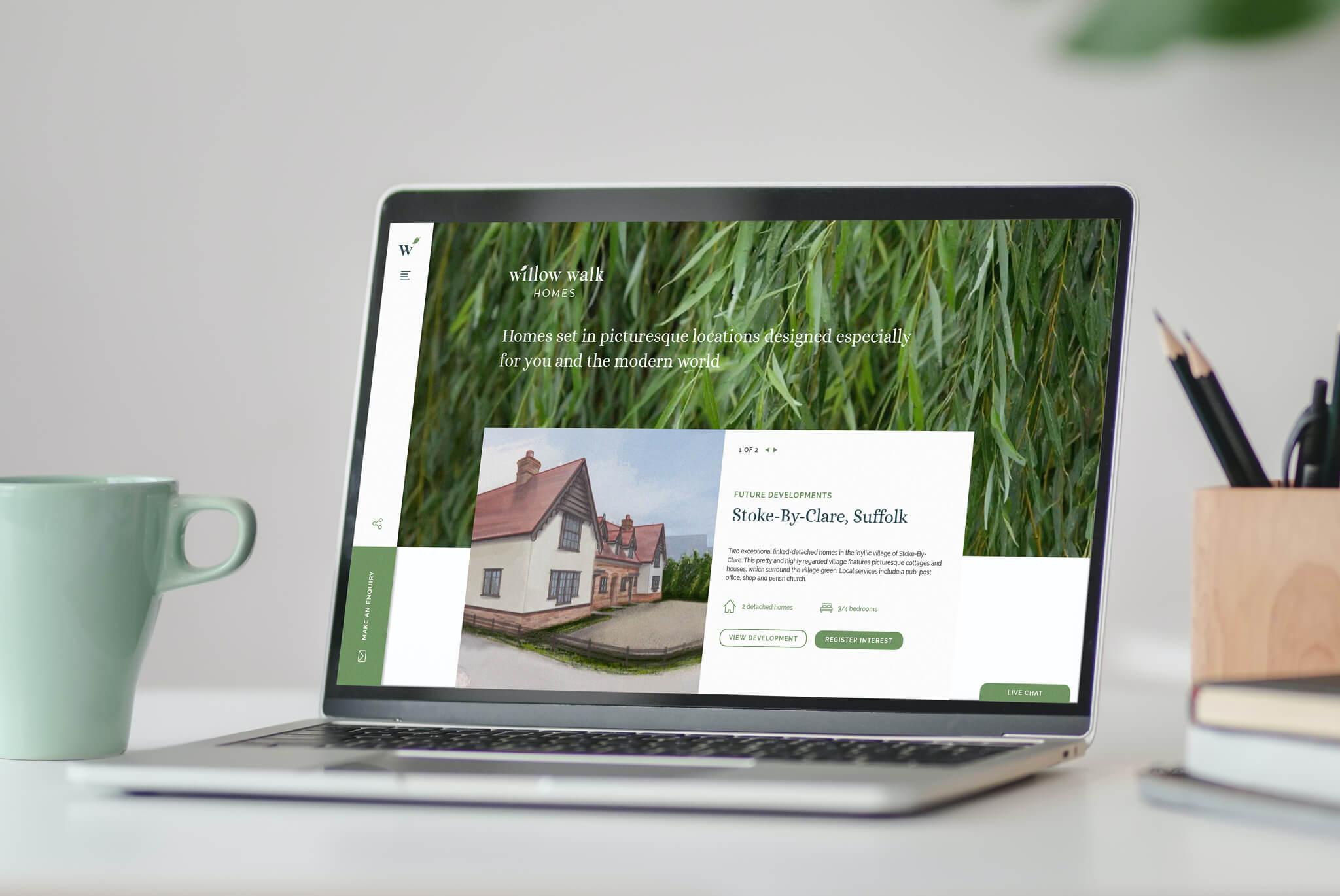 Willow Walk Homes website