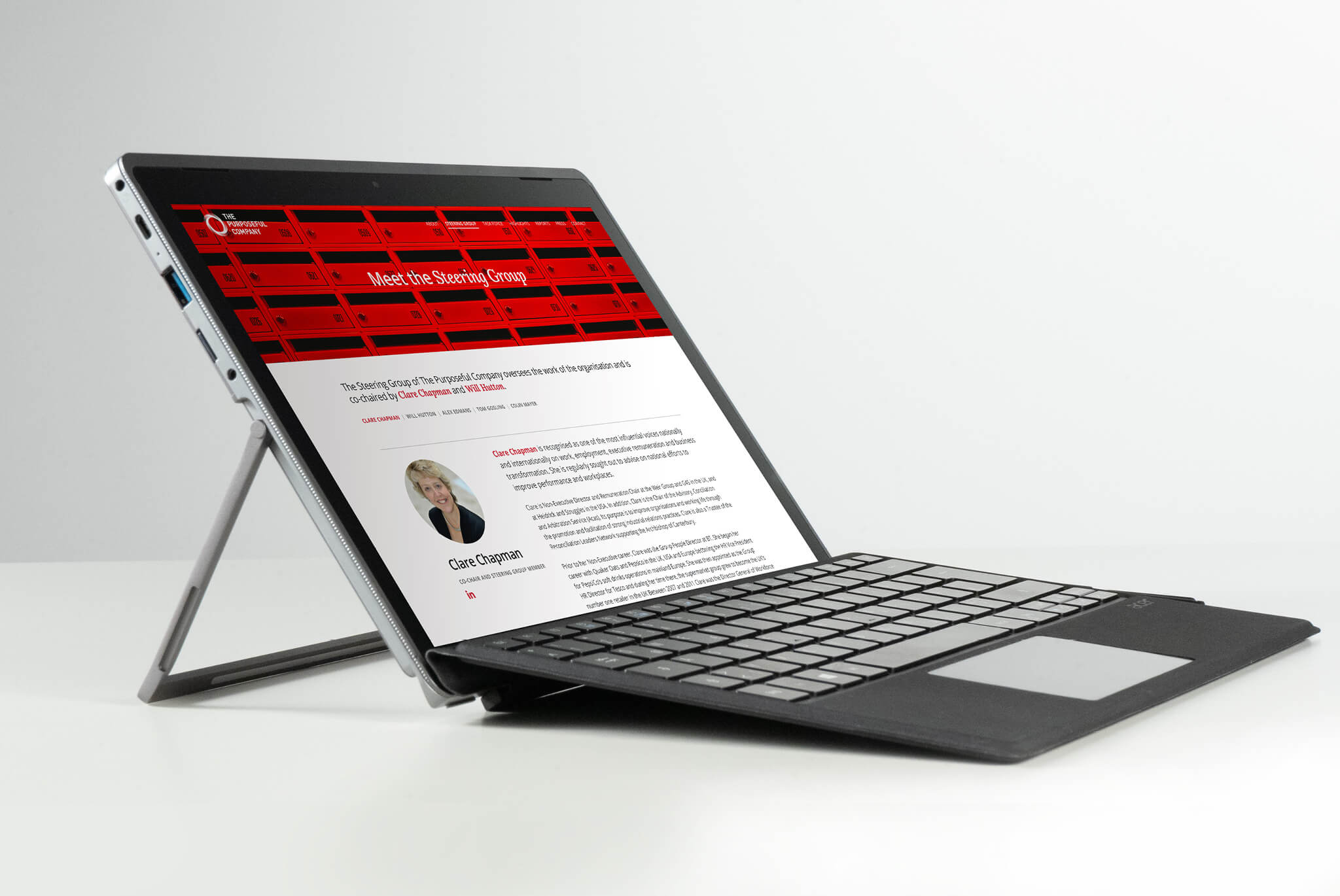 The Purposeful Company Website Tablet